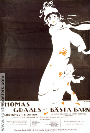 Thomas Graals b�sta barn 1922 Movie poster Harald B Harald Mauritz Stille