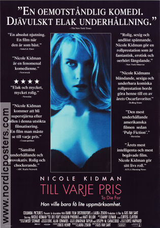 To Die For 1995 Movie poster Nicole Kidman