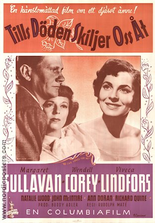 No Sad Songs For Me 1950 poster Viveca Lindfors