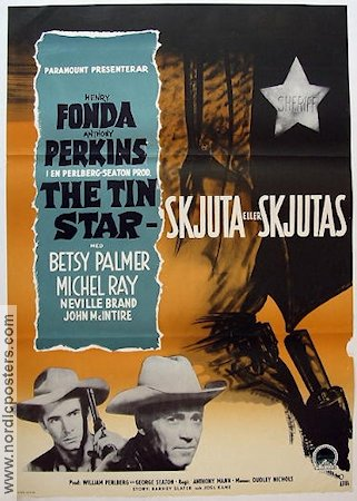 The Tin Star 1957 Henry Fonda Anthony Perkins