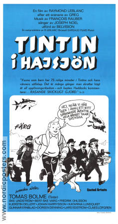 Tintin and the Lake of Sharks 1973 poster