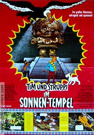Tintin et le temple du soleil 1972 Movie poster