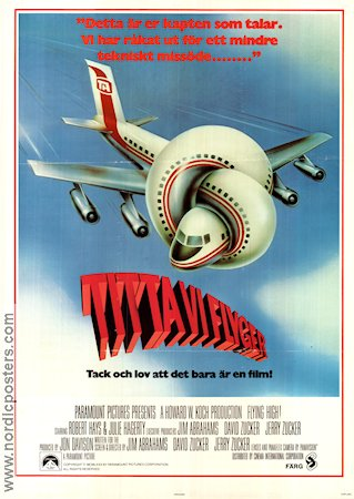 Airplane 1980 Movie poster Robert Hays
