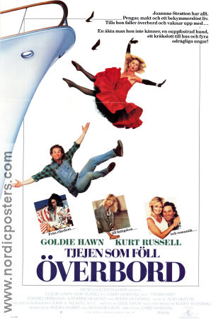 Overboard 1987 Movie poster Goldie Hawn