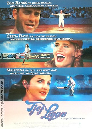 A League of Their Own 1992 poster Tom Hanks Penny Marshall