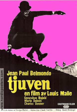 Le voleur 1967 Movie poster Jean-Paul Belmondo Louis Malle