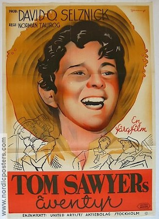 The Adventures of Tom Sawyer 1938 poster Tommy Kelly Norman Taurog