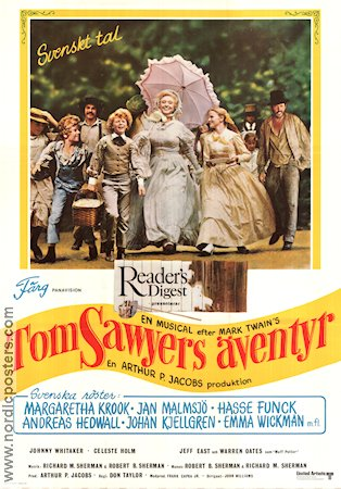 Tom Sawyer 1973 poster Jodie Foster