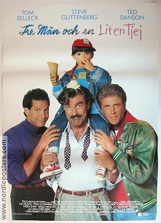 Three Men and a Little Lady 1990 poster Tom Selleck