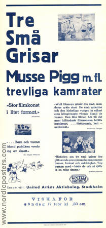 Three Little Pigs 1934 poster Musse Pigg