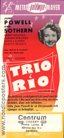Nancy Goes to Rio 1950 poster Ann Sothern Robert Z Leonard