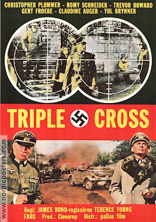 Triple Cross 1967 Movie poster Christopher Plummer Terence Young