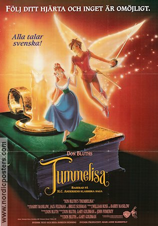 Thumbelina 1994 poster Don Bluth