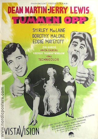 Artists and Models 1955 poster Dean Martin