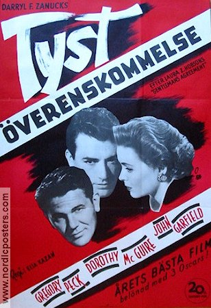 Gentleman´s Agreement 1948 poster Gregory Peck Elia Kazan