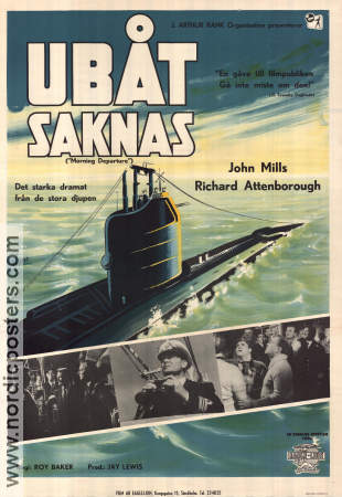 Morning Departure 1950 poster John Mills Roy Baker