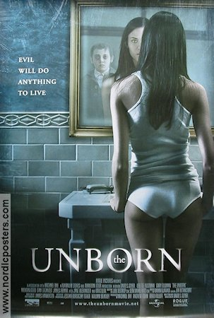 The Unborn 2009 poster Odette Yustman David S Goyer