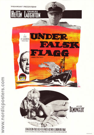 Under Ten Flags 1961 Charles Laughton Marlene Demongeot