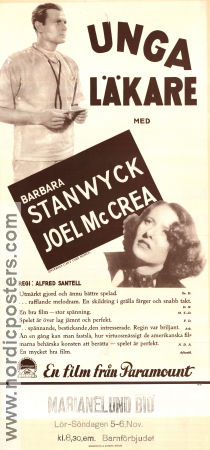 Internes Can´t Take Money 1937 poster Barbara Stanwyck Alfred Santell