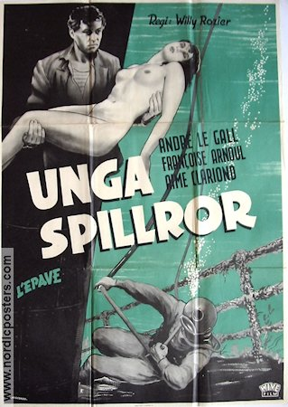 L'Epave 1949 Movie poster Andr� Le Gall