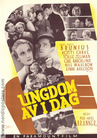 Ungdom av idag 1935 Movie poster Anne-Marie Brunius Per-Axel Branner