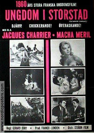 La main chaude 1960 Jacques Charrier Macha Meril