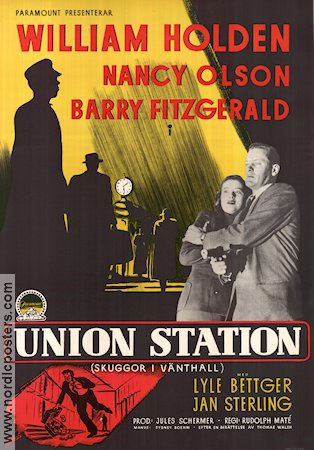 Union Station 1951 Movie poster William Holden