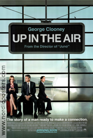 Up In the Air 2009 Movie poster George Clooney
