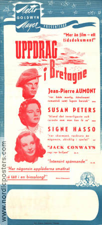 Assignment in Brittany 1943 poster Jean-Pierre Aumont