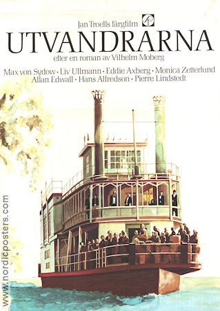 Utvandrarna 1971 Movie poster Jan Troell