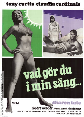 Don´t Make Waves 1968 poster Tony Curtis Alexander MacKendrick