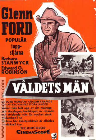 The Violent Men 1958 poster Glenn Ford