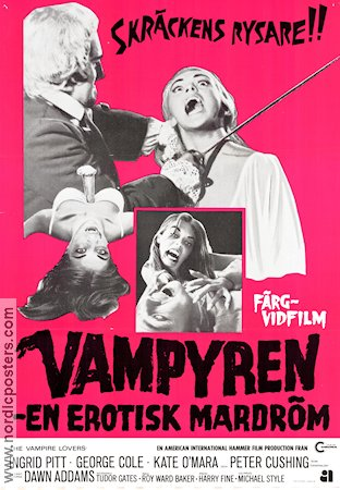 The Vampire Lovers 1970 Ingrid Pitt Peter Cushing