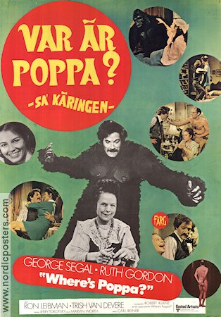 Where´s Poppa 1971 poster George Segal