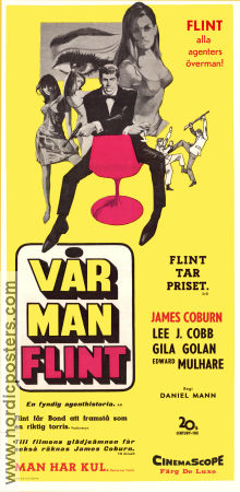 Our Man Flint 1966 poster James Coburn