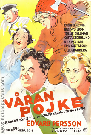Our Boy 1936 poster Edvard Persson Arne Bornebusch