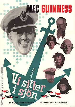 All at Sea 1958 poster Alec Guinness