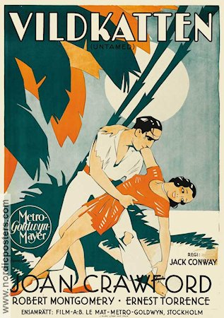 Untamed 1929 Movie poster Joan Crawford