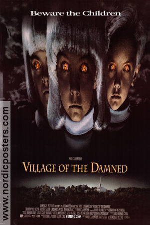 Village of the Damned 1995 Movie poster Christopher Reeve John Carpenter