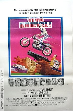 Viva Knievel 1977 Movie poster Evel Knievel