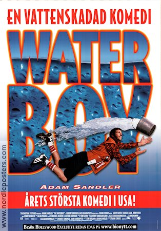 The Waterboy 1998 Movie poster Adam Sandler