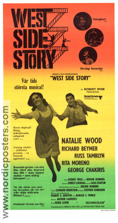 West Side Story 1961 poster Natalie Wood Jerome Robbins