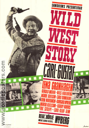 Wild West Story 1964 Movie poster Carl-Gustaf Lindstedt
