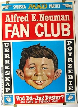 MAD Fan Club 1969 poster MAD