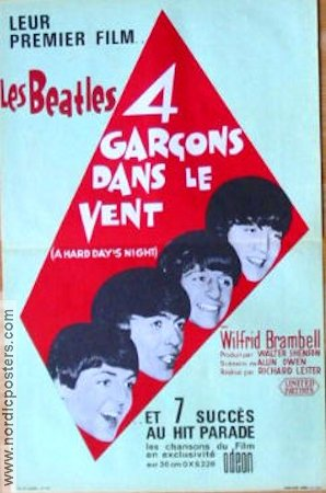 A Hard Day's Night 1964 poster Beatles Richard Lester