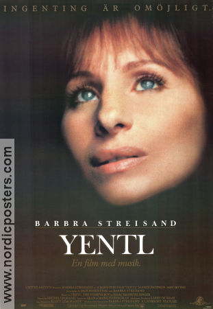 Yentl 1983 Movie poster Barbara Streisand