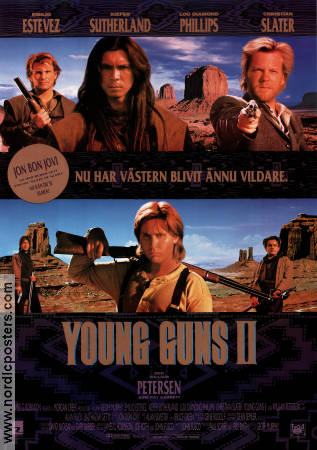 Young Guns 2 1990 poster Emilio Estevez