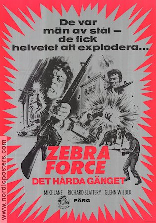 The Zebra Force 1976 Movie poster Mike Lane