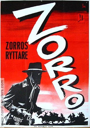 Zorros ryttare 1968 poster Reed Hadley