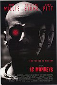 12 Monkeys 1996 Movie poster Bruce Willis Terry Gilliam